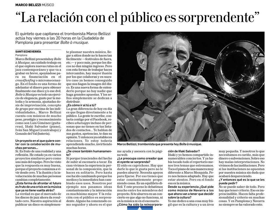 Entrevista «Jazz en la Calle» 2015